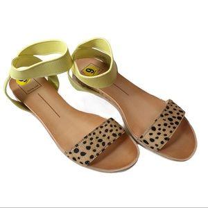 Dolce Vita Vivian Sandals In Yellow Multi Leopard